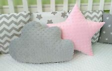 Set of 2 Cushions Pillows Baby Nursery Cot Kids Bedroom Children Decorative Gift