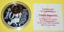 Czech Republic 1 Coin(gilded)+Medal 40mm, 31g, Proof Like + Zertifikat
