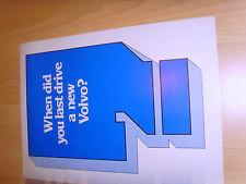 Volvo range 2 car sales brochures 1979 excellent condition