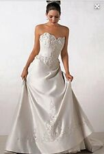 Alfred Angelo Beaded Sweetheart A Line Size 8/10 Wedding Dress