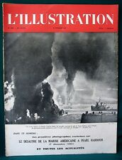 "Pearl Harbor Attack orig Vichy France WW II French Magazine ""L'illustration"""