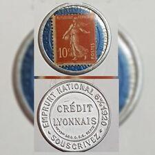 Timbre monnaie - Crédit Lyonnais - 10 centimes 1920