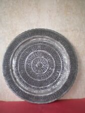 Antique Persian or Middle East Plate/Tray, engraved, 19c. with 240 human figures