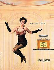 PUBLICITE ADVERTISING 074  1992  JEAN PATOU   parfum JOY