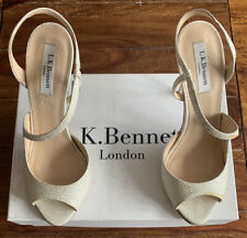 LK Bennett Leather Palma Soft Gold Peep Toe UK 5 38 Made In Italy 99p No Reserve