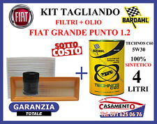 KIT TAGLIANDO OLIO MOTORE BARDAHL 5W30 + FILTRI FIAT GRANDE PUNTO 1.2