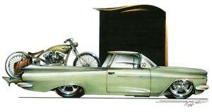 Chevrolet '59 El Camino Chevy Classic Car T-shirt 100% Cotton Small-5XL