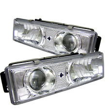 Chevy 88-98 GMC C/K Pickup 1500/2500/3500 Chrome LED Projector Headlights