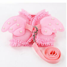 Small Dog Harness Mesh Soft Vest Leash Lead Pink for Girl Puppy Shih Tzu Yorkie