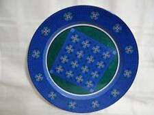 RARE Dansk NINE PATCH Quiltings Dinnerware Chop Plate (Round Platter) 13""