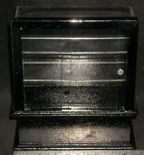 Dollhouse Miniature Pastry Bakery Tall Black Display Case 1:12 #SC36 Store Shop