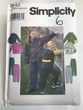 Childrens,teen,Jacket,Pants, size 8-14,Simplicity, 8342,Pattern,Uncut,fleece