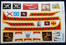 PLAYMOBIL # 3750 / 3053 Pirate Ship stickers (STICKERS ONLY)