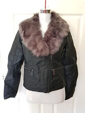 BN Ladies House of Fraser John Lewis Oasis Faux Leather Jacket Size M