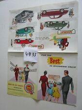 N° 4933  : dépliant gamme MORRIS.Wolseley Riley MG / english text 9/1956