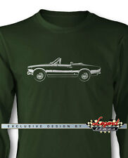 Fiat 124 Sport Spider 1966 - 1973 Long Sleeves T-Shirt - Multiple Colors & Sizes