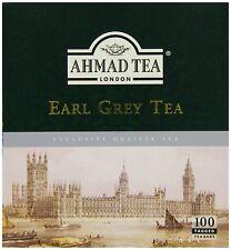300  Ahmad Earl Grey Tea Bags   (3 Boxes Of 100 )**** Free Post *****