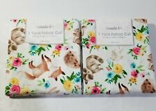 NEW FABRIC 2 BUNDLES OF 1 YARD EACH.100%COTTON.FOREST ANIMAL PATTERN(total 2yds)