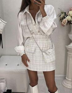 Dolls Fashion Tweed Mini Skirt And Shirt Set Elegant Outfit