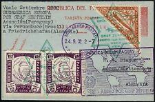 Zeppelin Paraguay 1932 7. Amérique du Sud Voyage Ganzsache ZUF Asuncion si 188/692