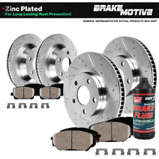 Front & Rear Brake Rotors & Ceramic Pads Kit For 2006 2007 Nissan Murano