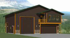 40x42 Apartment with 2-Car 1-RV Garage - PDF FloorPlan - 1,153 sqft - Model 2