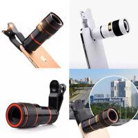 Universal Phone Telescope HD 12x Cell Phone Optical Zoom Tele Lens w/ Clip NEW