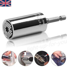 7-19MM Universal Teeth Socket Grip Wrench Ratchet Spanner Drill Bit Adapter Tool