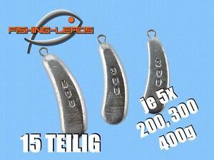 Norwegenblei 15 STK je 5x 200,300,400g Nierenblei Schleppblei Welsblei Angelblei