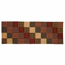 "Country Farmhouse REBECCA'S PATCHWORK 36"" Cotton Table Runner"