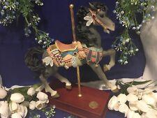 San Francisco Music Box Co Western Legends Le Carousel Horse Music Box Beauty !