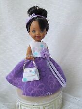 Handmade Kelly Dress Clothes Barbie Sister Chelsea JMB Designs Purple Lavender