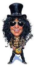 Guns N Roses - Slash Caricature 80's Hair Metal Sticker or Magnet