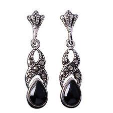 Unbranded Black Drop/Dangle Fine Earrings