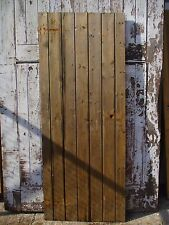 "Ledged and Braced Cottage Plank Doors Reclaimed Vintage Solid wood 30""x75-76"""