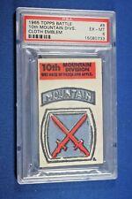 1965 Topps Battle Cards - Cloth Emblem #8 - 10th Mountain Division - PSA ExMt 6