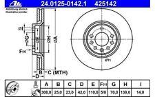 ATE Juego de 2 discos freno Antes 308mm ventilado para OPEL ASTRA 24.0125-0142.1