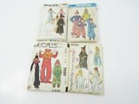 Lot 4 McCalls Simplicity Butterick Childrens Costumes Sewing Patterns Clown