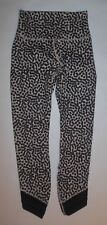 NWOT LULULEMON HIGH TIMES PANTS WRAP MESH ACE SPOT GRAIN BLACK YOGA SPIN sz 4