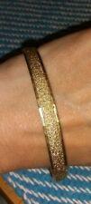 Vintage Monet Gold toned Bangle Bracelet Slide On No Clasp 3 inches