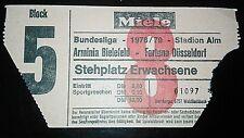 TICKET Arminia Bielefeld Fortuna Düsseldorf 78/79 EINTRITTSKARTE Alm Bundesliga