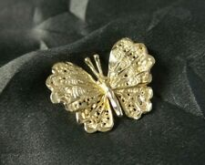 BEAUTIFUL DETAILED 14K SOLID YELLOW GOLD BUTTERFLY DESIGNER PENDANT