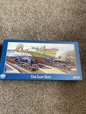 THE LAST DAYS BARRY FREEMAN JIGSAW 636 PIECE GIBSONS STEAM TRAIN PUZZLE.