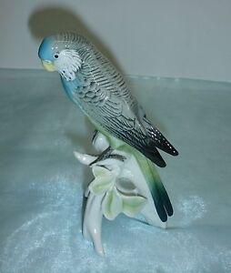 Sittich, Wellensittich - ENS Figur Porzellan Wellensittich Vogel Porzellanfigur
