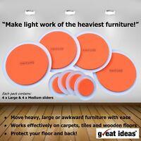 Easy Furniture Sliders Gliders Move Heavy Furniture Moving Men Carpet Hard Floor