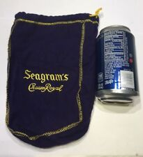 Seagram's Crown Royal Purple Felt Bag Gold Stitching Drawstring Fifth 5th Size