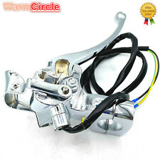LEFT BRAKE CABLE LEVER ASSEMBLY CHROME WITH 10MM REAR VIEW MIRROR HOLDER ZNEN
