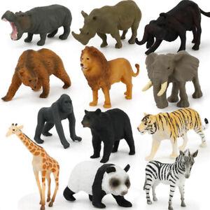 Plastic Figures Wild Animals Toys 12pc Kids Small Farm Dinosaur Model Toys Gifts