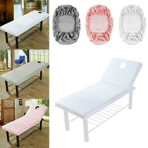 Polyester Massage Table Cloth Sheet Spa Salon Bed Cover with Face Hole