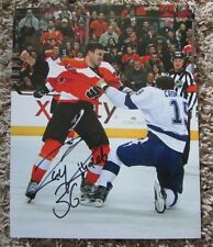 ZAC RINALDO AUTO SIGNED 8 x 10 PHOTO PHILADELPHIA FLYERS RARE SWEET LOOK